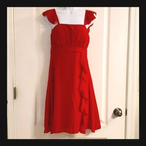 Ever Pretty Red Sheer Cocktail Dress 8 NWOT
